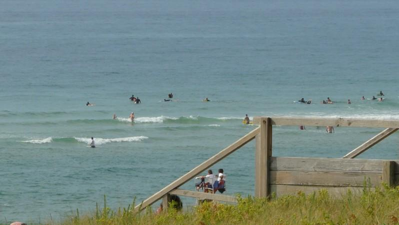 Surf report Mimizan - Plage Sud - France (40) 2009-08-16 18:00:00