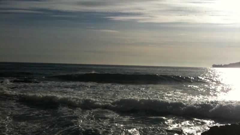 Surf report Villefranche - Plage Marinières - France (06) 2009-12-15 13:14:00