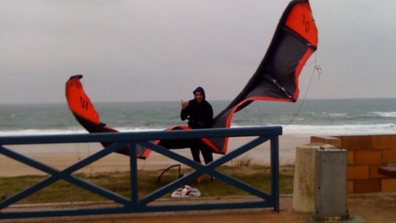 Wind report Lacanau Océan - La Nord - France (33) 2010-01-28 10:00:00