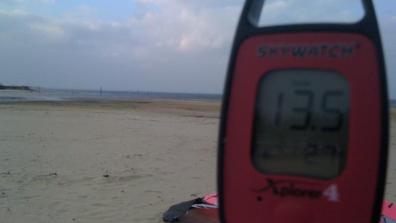 Wind report La Hume - France (33) 2010-02-09 15:00:00