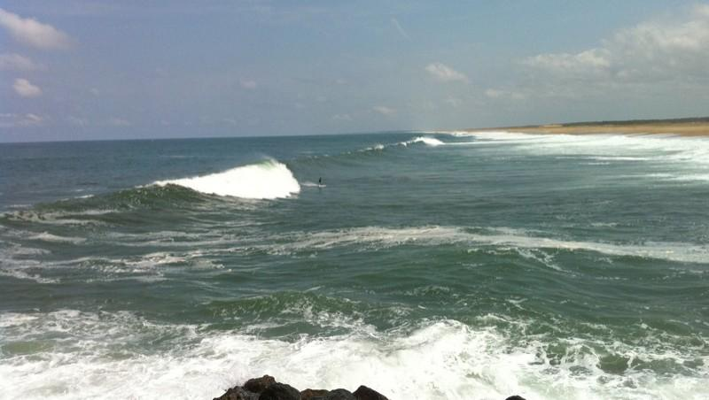 Surf report Tarnos Digue - France (40) 2010-07-20 13:00:00