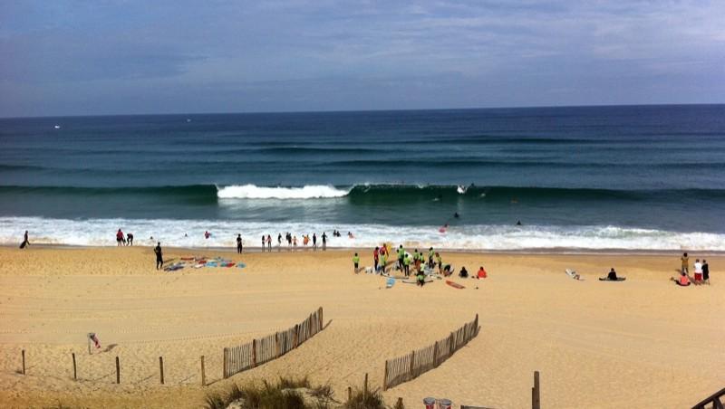 Surf report Mimizan - Plage Sud - France (40) 2011-08-06 10:15:00