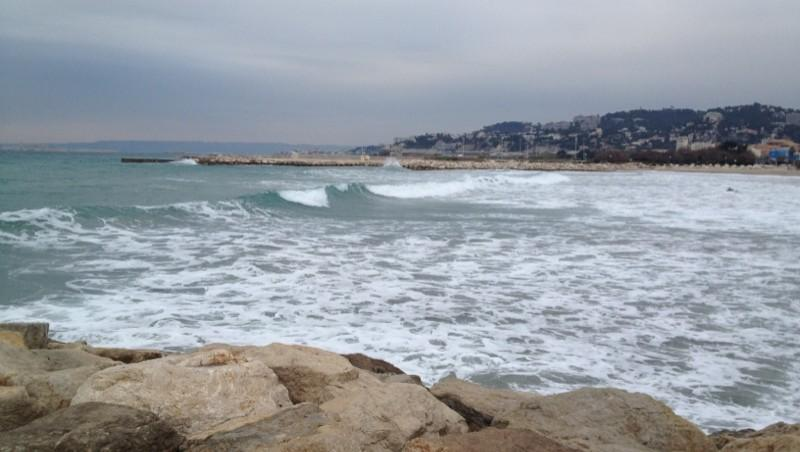 Surf report Le Prado - France (13) 2012-02-04 16:21:00