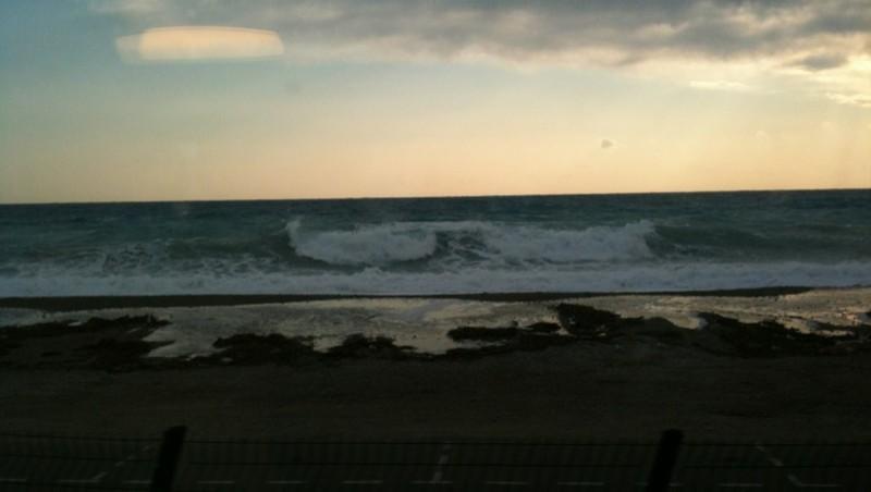 Surf report Plage La Marina - France (06) 2012-02-10 09:35:00