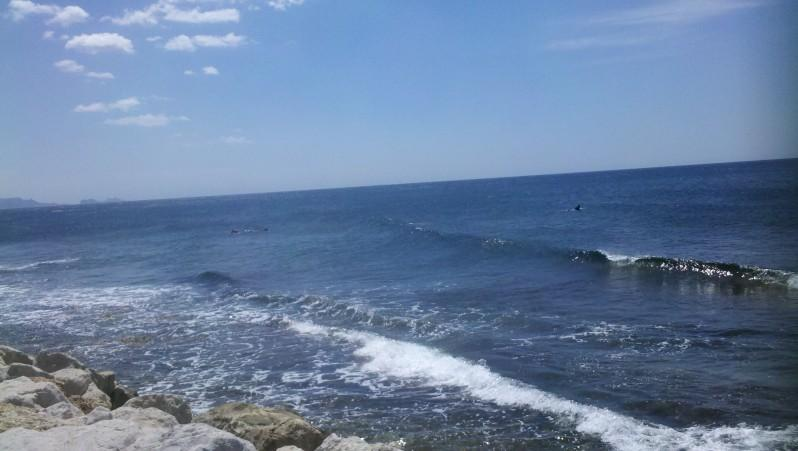Surf report Sausset les Pins - Plage du Port - France (13) 2012-06-04 12:20:00