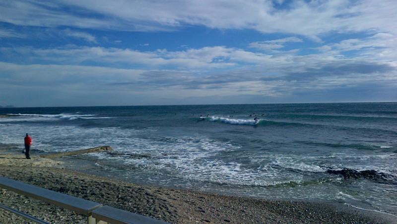 Surf report Sausset les Pins - Plage du Port - France (13) 2012-10-27 14:00:00