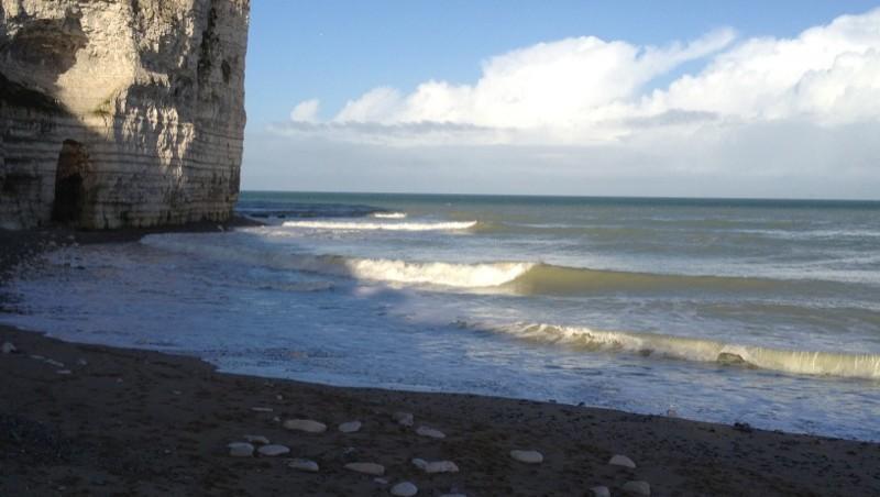 Surf report Yport - France (76) 2012-12-16 14:36:00