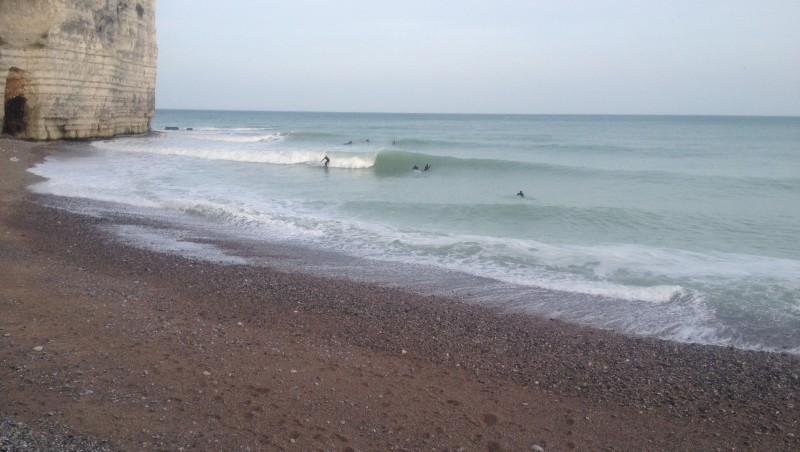 Surf report Yport - France (76) 2015-12-27 11:00:00