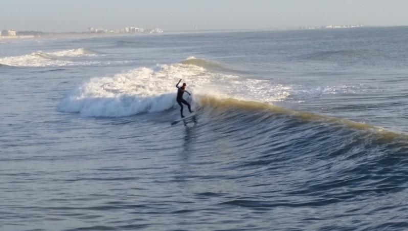 Surf report Saint-Jean-de-Monts - Base Nautique - France (85) 2016-01-28 17:00:00