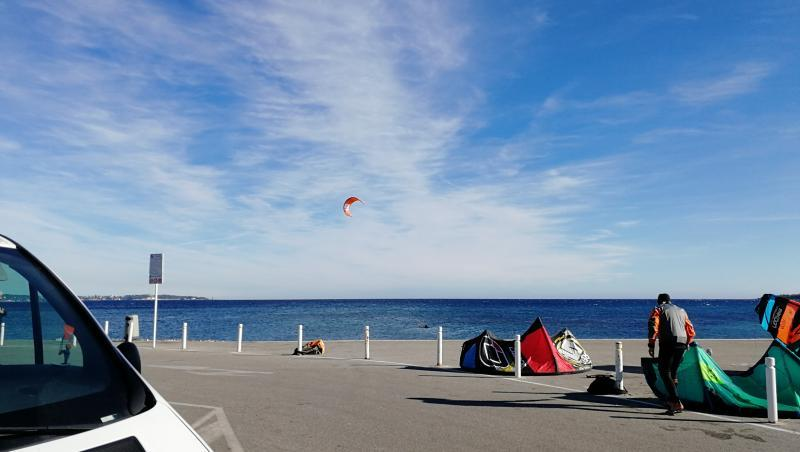 Wind report Cannes - Palm Beach - France (06) 2018-01-18 14:00:00