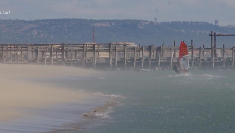 Wind report Leucate - Les Coussoules - France (11) 2020-08-31 15:00:00
