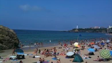 wave report FR, Biarritz - Grande Plage (64) du 2009-08-16 15:16:00