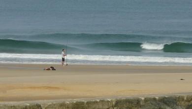 Surf report FR, Mimizan - Plage Garluche (40) du 2009-08-18 08:35:00