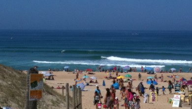Surf report FR, Seignosse - Les Bourdaines (40) du 2010-08-21 12:00:00