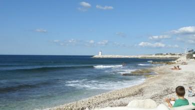 Surf report FR, Sausset les Pins - Plage du Port (13) du 2010-08-28 10:45:00