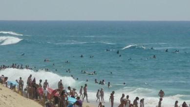 Surf report FR, Mimizan - Plage Garluche (40) du 2011-07-14 16:40:00