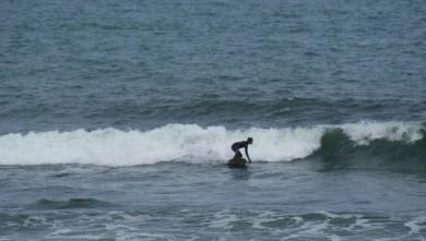 Surf report FR, La Mauvaise Grève (29) du 2013-08-25 09:00:00