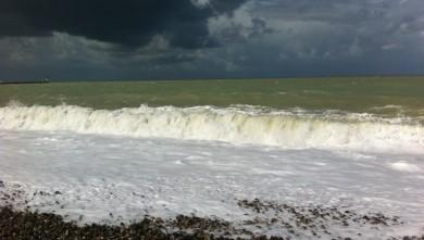Surf report FR, Le Tréport (76) du 2014-08-11 12:25:00