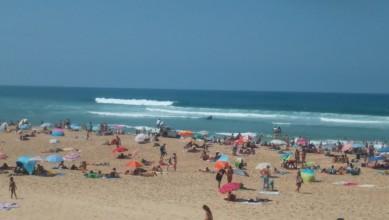 Surf report FR, Vieux Boucau (40) du 2015-08-06 13:20:00