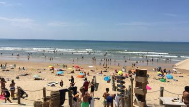 Surf report FR, Lacanau Océan - La Centrale (33) du 2017-07-17 15:00:00